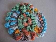 A colourful crochet scrumble.