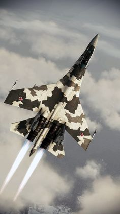 "Sukhoi ""Flanker-E"" Multirole air superiority fighter Raiden Fighter, Air Fighter, Fighter Jets, Airplane Fighter, Fighter Aircraft, Russian Military Aircraft, Russian Fighter, Sukhoi, Military Jets"