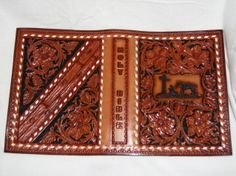 Cowboy Leather Bible Cover Custom by designsinleather on Etsy, $65.00