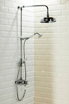 A traditional thermostatic shower is the best choice in this setting. A rain effect shower head and additional handheld shower will provide a practical solution in your bathroom. Victorian Style Bathroom, Vintage Bathrooms, 1930s Bathroom, Victorian Farmhouse, Classic Bathroom, Budget Bathroom, Bathroom Interior, Bathroom Ideas, Bathroom Furniture
