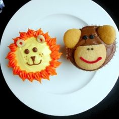 Jungle Animal Cupcakes recipe  Btw I like the lion more