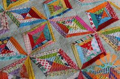 Beautiful Quilting & String Project -- Piece N Quilt: String Quilt - Custom Machine Quilting by Natalia Bonner