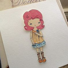 Paper Doll - Crimson - Instant Download
