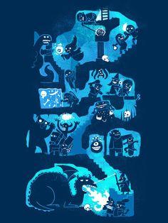 D&D #Illustration #geeky #illustration #tshirt