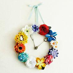 飾ってリース 着けてコサージュフェルトの花時計の会(12回限定コレクション)