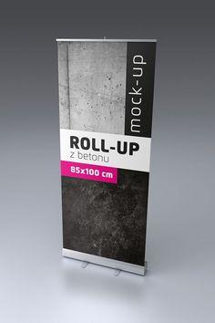 Mockup – roll-up | 30+ Poster mockup gratuiti per il tuo portfolio
