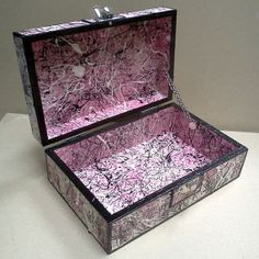 Items similar to Pink, Splatter Art, Keepsake/Memory Box on Etsy Splatter Art, Etsy Store, Decorative Boxes, Girly, Memories, Abstract, Creative, Pink, Handmade