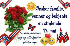 Want family friends and confess a radiant of May. May 17 nestles and all hearts rejoice! Constitution Day, May 17, Norway, Hearts, Friends, Pictures, Amigos, Boyfriends