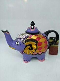 Fil figürlü porselen demlik