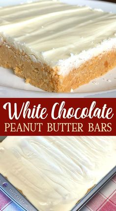 White Chocolate Peanut Butter Bars taste like a white chocolate peanut butter cup and make one of the BEST no bake desserts for a party or holiday meal. White Chocolate Desserts, Peanut Butter Chocolate Bars, Peanut Butter Recipes, Peanut Butter Cookies, Melting Chocolate, Chocolate Treats, Best Dessert Recipes, No Bake Desserts, Easy Desserts