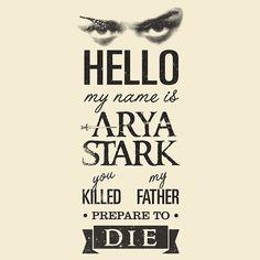 Arya #gameofthrones #princessbride