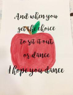 Apple watercolor I hope you dance lyrics