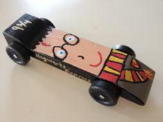 Harry Potter powderpuff pinewood derby car