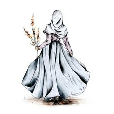 I love hijab . Girl Cartoon, Cartoon Art, Hijab Anime, Cover Wattpad, Moslem, Hijab Drawing, Islamic Cartoon, Hijab Cartoon, Islamic Girl