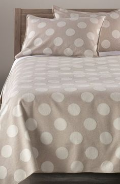 Nordstrom at Home 'Dottie' Flannel Blanket available at #Nordstrom   Love this blanket.