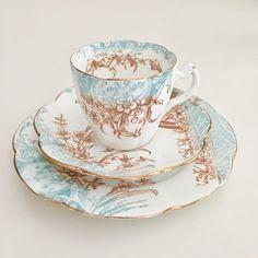 Antique Wileman tea set Kensington patt 5028 on Lily shape