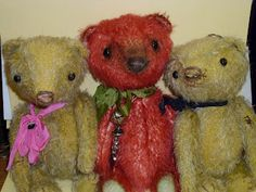Eat Cake! bears and vintage: Virginia's bears.  In the world of make believe mohair is a girls best friend.