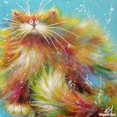 Озорные кошки художницы Ким Хаскинс (много фото)