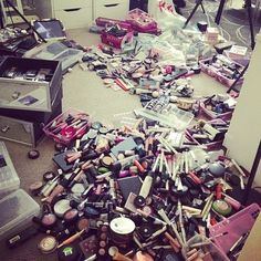 <3 lots and lots of makeup