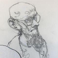 "367 Likes, 6 Comments - George Pratt (@georgepratt) on Instagram: ""Sketch of @thomasfluharty #georgepratt #palominoblackwingpencil #whitegelpen #moleskine"""