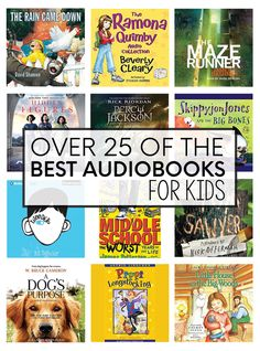 Over 25 of the best audiobooks for kids - these are perfect to play at night, during homework or on long car trips with the family.