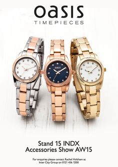Oasis watches from ICW
