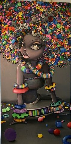 Dope art candy lady