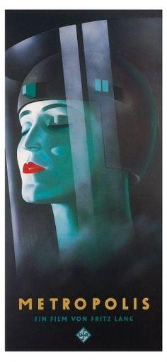 Metropolis Poster, Metropolis (1927), Classic Vintage Movie Poster
