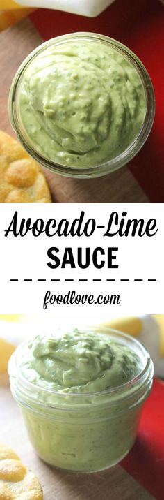 Avocado-Lime Sauce: my new obsession. Perfect for tacos, burritos, or salads.