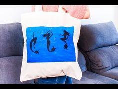 Personaliza tu tote bag del verano! un bolsa playera con pintura textil.