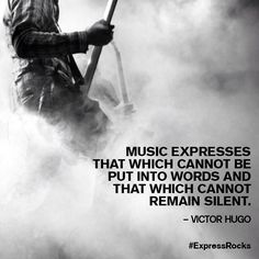 Music inspiration from Victor Hugo. #Express #ExpressRocks
