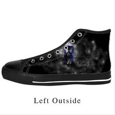 LAI LAI 2016 new style Women's Black Lace Up High Top Canvas Shoes Doctor Who Canvas Shoes 8M