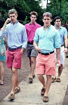 8. Guys who wear of its similar to these are attractive to me. Sunglasses and belts are a great accessory for this outfit because it adds even more color to their colorful shorts.