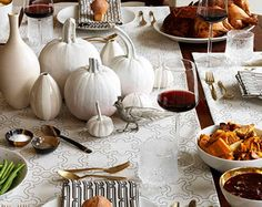 A nice way of using white pumpkins. From the blog Apartment 46.