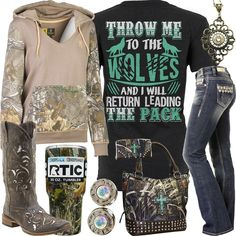 I want the hoodie out of all tgem lol Cowgirl Style Outfits, Country Style Outfits, Country Girl Style, Camo Outfits, Country Fashion, Western Outfits, Fashion Outfits, Estilo Converse, Cute N Country