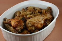 Slow Cooker 20 to 40 Clove Garlic Chicken - crazy easy and super impressive to guests.