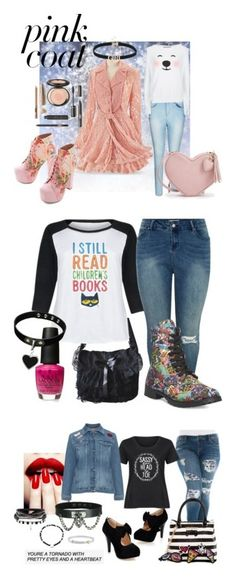 """Daddy's girl"" by thebigtree on Polyvore featuring Jeffrey Campbell, City Chic, Wildfox, plus size clothing, Retrò, New Look, Wet Seal, OPI, Slink Jeans and Betsey Johnson"