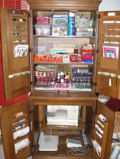 Need to convert our old armoire into a sewing station!