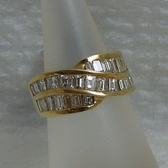 2.25 Carat Total Diamond Weight Ring, SI1 Clarity and I-K Color set in 14k Yellow Gold, $890.