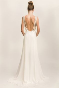 Stardust, backless wedding dress by Adelais London