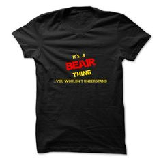 [Best Tshirt name list] Its a BEAIR thing you wouldnt understand Coupon 10% Hoodies Tee Shirts