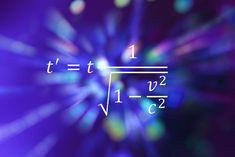 This equation of special relativity describes time dilation.<br />