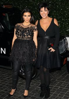 Julianne and Ryan Party With Kim, Demi, and More at Topshop: Kim Kardashian arrived with Kris Jenner.