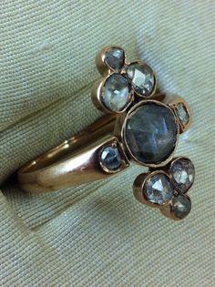 coronne' cut diamonds ring Italy 19th