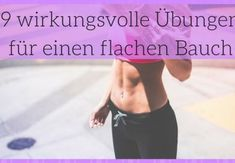 9 effective exercises for a flat stomach - Figurbetont - Fitness Workouts, Sport Fitness, At Home Workouts, Fitness Motivation, Band Workouts, Fitness Quotes, Hiit, Cardio Training, Workout Bauch