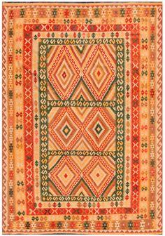 """KILIM HERAT 306x210. Alfombra Kilim Herat. Kilim Herat. Kilim anudado a mano con lana autóctona por las tribus """"turkemanas"""" en el norte de Afganistán. Los diseños utilizados son bellas estilizaciones de formas tradicionales como el """"boteh"""", octogonos, rombos engarzados... Kilims, Carpets, Lana, Bohemian Rug, Abstract, Rugs, Home Decor, Kilim Rugs, Norte"""