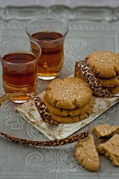 Vegetable Pasties, Sweets Cake, Middle Eastern Recipes, How To Make Tea, Vegan Treats, Shortbread Cookies, Tahini, Chocolate, Drinking Tea