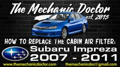 This video will show you step by step instructions on how to easily replace the cabin air filter on a Subaru Impreza 2007 - Subaru Impreza, Air Filter, Step By Step Instructions, Filters, Cabin, Cabins, Cottage, Wooden Houses