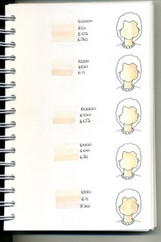 Cat's Creations: Copic Swatch Book...