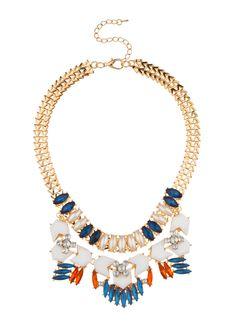 Elements by Stassi x Shop Prima Donna - Boron Chain Collar Necklace Blue/White